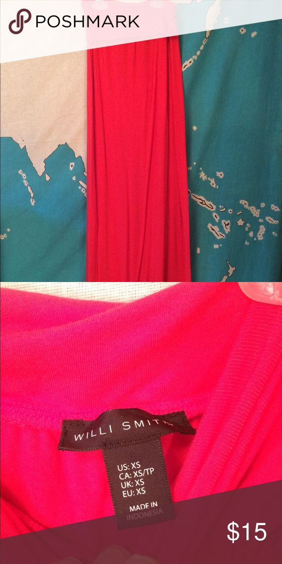 Coral Maxi Skirt Size X/Small, perfect for spring or summer! PINK Victoria's Secret Skirts Maxi