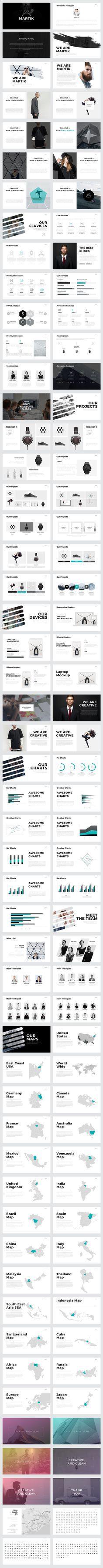Martik PowerPoint Template: presentation design with a minimal, yet gorgeous layout #ppt Download: https://creativemarket.com/Slidedizer/494473-Martik-PowerPoint-Template/?u=nexion