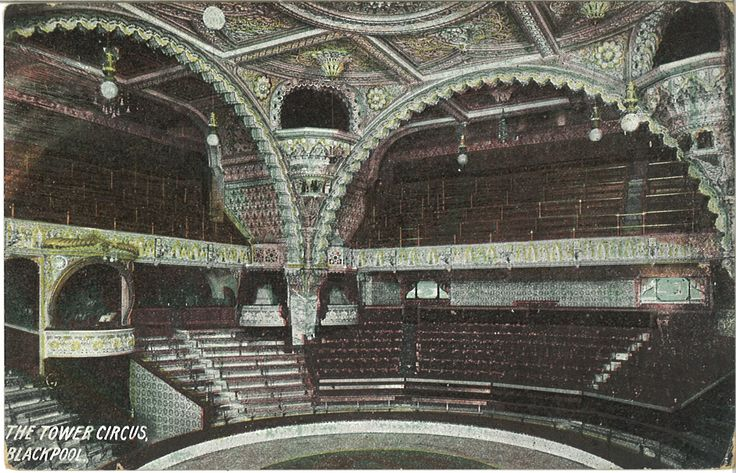 Old postcard from The Blackpool Tower Circus