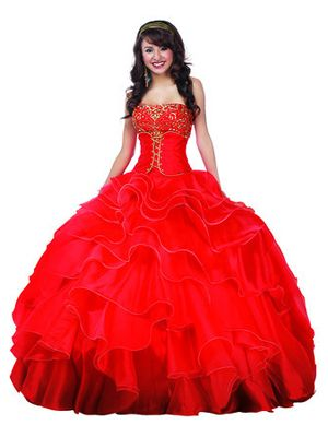 Disney Comes Out With Princess-Inspired Quinceañera Dresses   Latina; Mulan Red and Gold