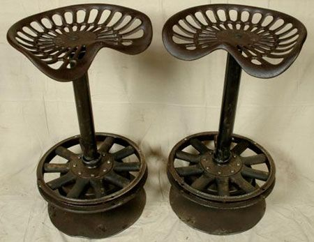 metal tractor seat bar stools 2