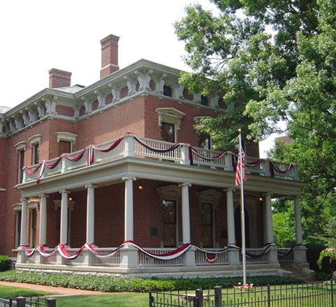 Former home of Indiana's only presidential Benjamin Harrison. The site is now a museum dedicated to  the 23rd U.S. president