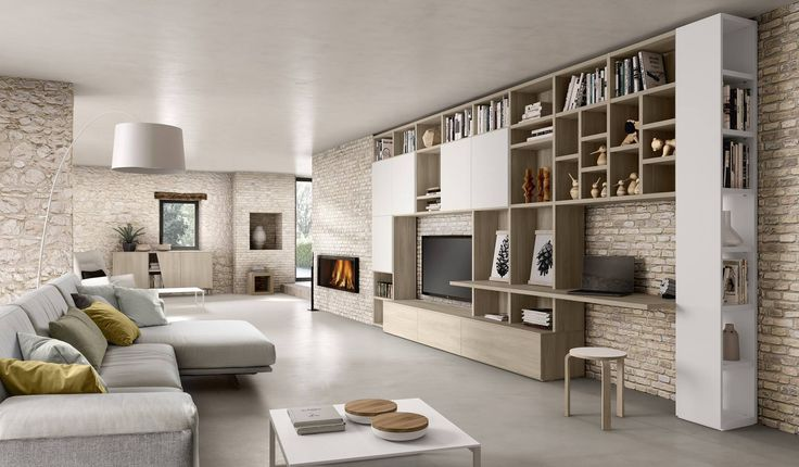 20 best italian modern wall unit systems italian for Pitture case moderne