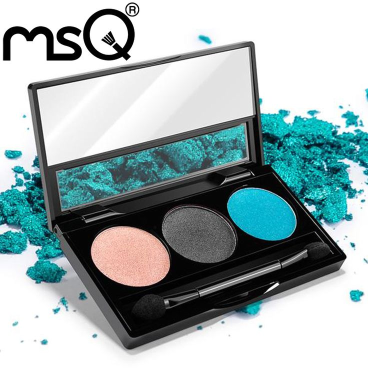 MSQ Kosmetik Baru 3 Warna Hangat Eyeshadow Palette Eye Shadow Makeup Beauty Make up Set