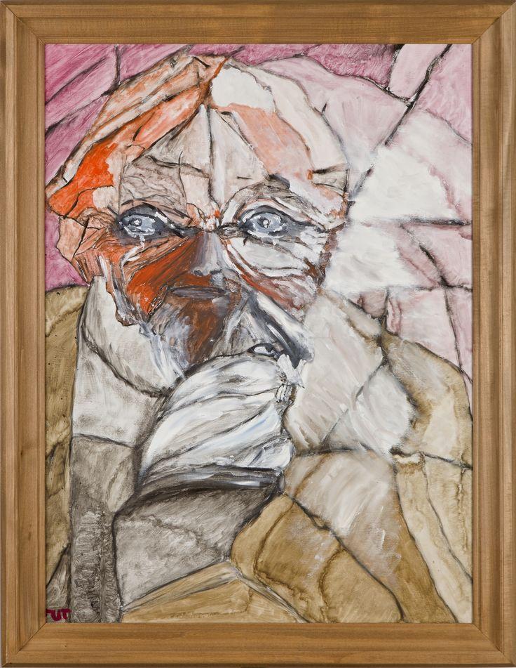 Wojciech Tut Chechliński, Widzenie, olej na płótnie, 79,5 x 58,5 cm, 2010 r, sygnowany (kat. 101)