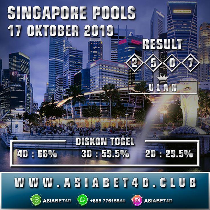 RESULT SINGAPORE POOLS KAMIS 17 OKTOBER 2019 Singapore