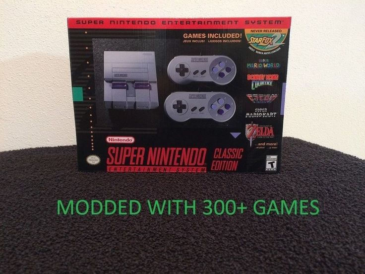 Super Nintendo Entertainment System SNES Classic Edition Mini MODDED 300+ Games #Nintendo