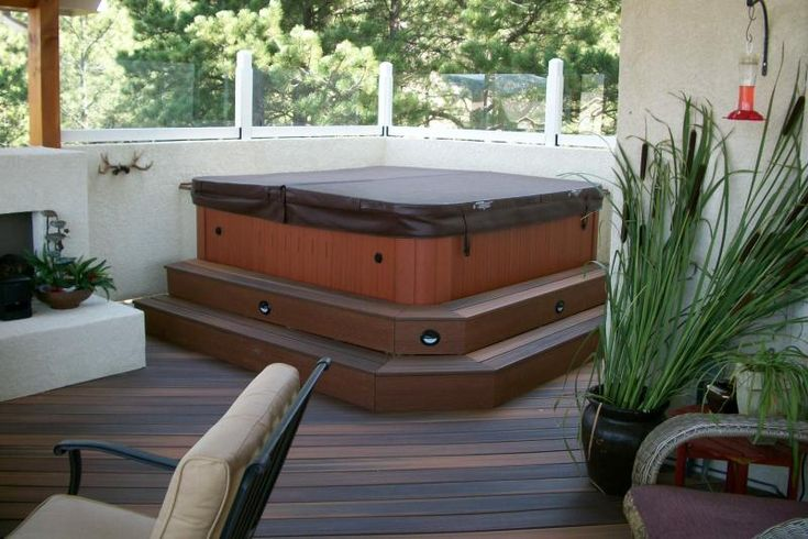 diy hot tub steps google search amherst outside On concrete craft colorado springs