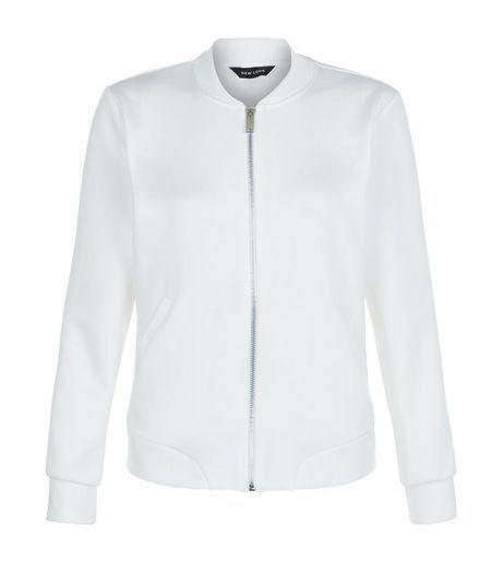 White Scuba Bomber Jacket | New Look