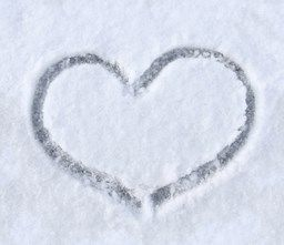 Valentine day is coming! Cool cold snow heart at sftextures.com