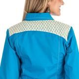 Cruel Girl Women's Blue Arena Fit Snap Western Shirt [CTW9291001]