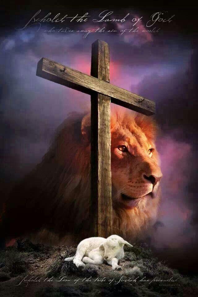 O Cordeiro de Deus. O Leão da tribo de Judá. Nosso Deus. Nosso Redentor. Nosso Senhor amado Jesus =)