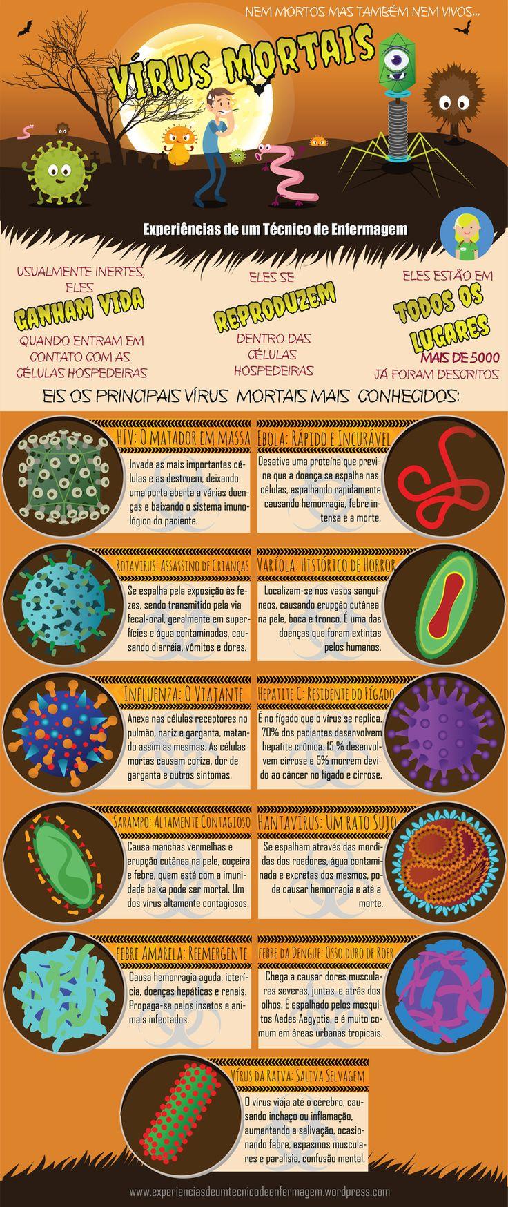Os Vírus Mortais do Planeta: Conheça um pouco sobre cada uma delas – Experiências de um técnico de enfermagem