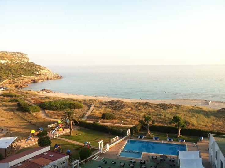 Atardeciendo en la playa de Son Bou, desde el Hotel Sol Milanos Pingüinos