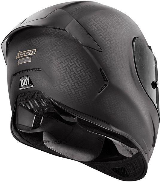 Icon Pro Ghost Carbon Fiber Helmet Rear
