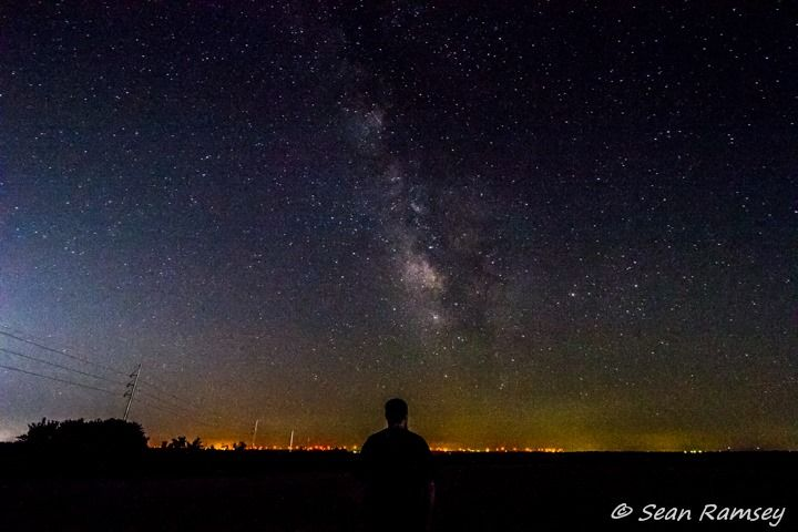 Didn't catch any meteors tonight but what a view! Photo by Sean Ramsey , Weather Storm Chaser.