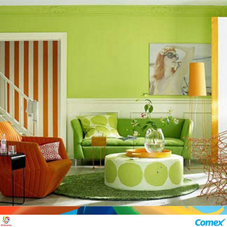 Este a o los colores estrella son los tonos naranjas y - Colores verdes para pintar paredes ...