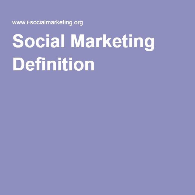 Social Marketing Definition
