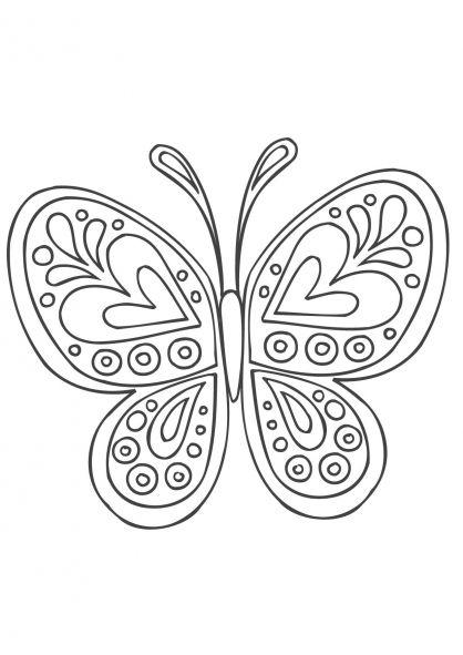 Coloriage Mandala papillon