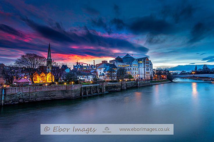 York sunset - York www.eborimages.co.uk