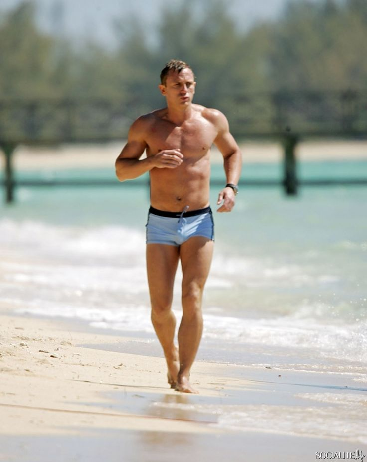 Daniel Craig Films 'Casino Royale' Wearing Iconic Bathing Suit