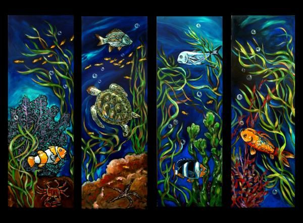 Coral Reef Series Painting | Watercolors, Oils, Markers ...