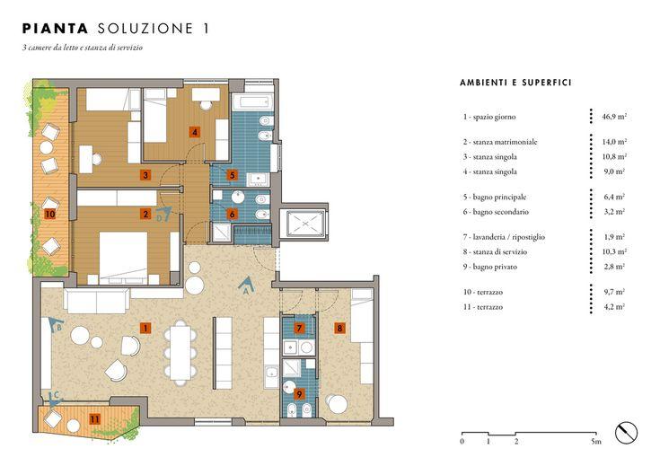 Progetto di ristrutturazione di un appartamento di 120 mq a Roma. Grande openspace, tre camere da letto + una stanza di servizio, due bagni + un bagno di servizio. Arredi di Molteni, Valsecchi 1918, Doimo Cucine e altri.
