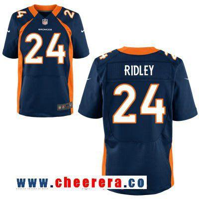 mens denver broncos 24 stevan ridley navy blue alternate stitched nfl nike elite jersey