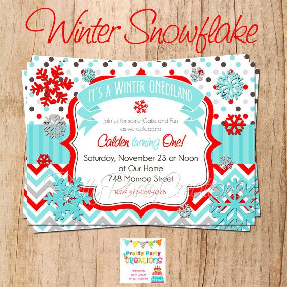SNOWFLAKES  birthday or baby shower  You by PrettyPartyCreations, $11.50