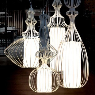 Modern combination bird cage pendant light in the onlineshop www.4interior.ro