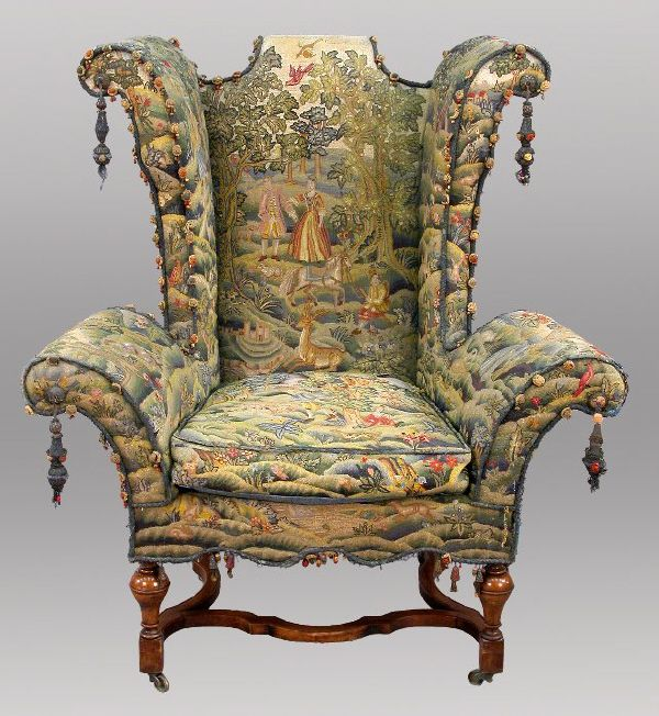 Important William And Mary Style Wing Chair : Lot 148