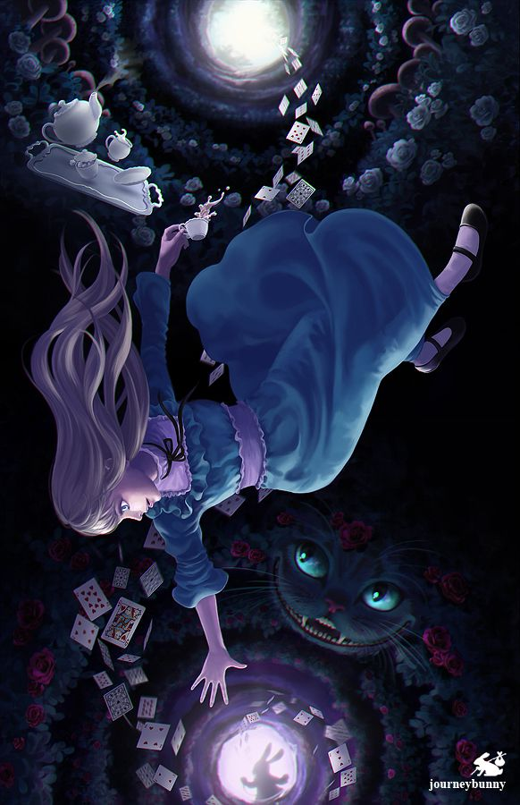 "[ Falling Down the Rabbit-Hole - Commission ]-Alice's Adventures in Wonderland Fan-Art-[Photoshop CS5 - ~4 weeks]""Down, down, down.""This is a completed commission for a friend. I had so many ideas for this picture, and I'm happy to say I fit most of them in here. I never read the original 'Alice's Adventures in Wonderland', but I'm so happy I did before I started on this picture. The story has so many symbols in it my ideas for the picture were..."