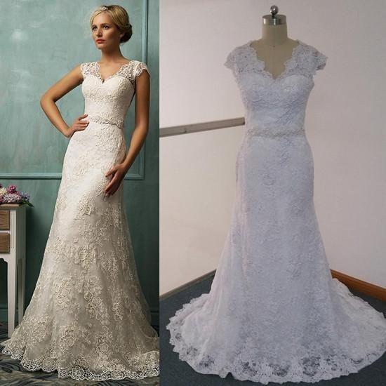 White Wedding Dresses,Elegant Wedding Gown,Lace Wedding Gowns,Lace Bridal Dress,2018 Wedding Dress,Sexy Brides Dress,Vintage Wedding Gowns,Real Photo Wedding DressElegant PD20184675