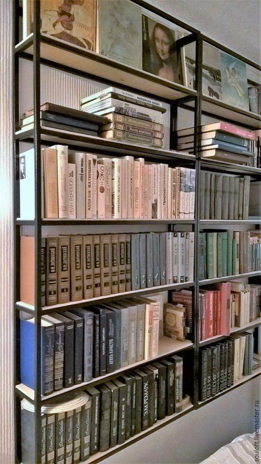 Мебель ручной работы. стеллаж для книг, стеллаж лофт. Vanda (SouLoft). Ярмарка Мастеров. Стеллаж, кабинет, стеллаж лофт