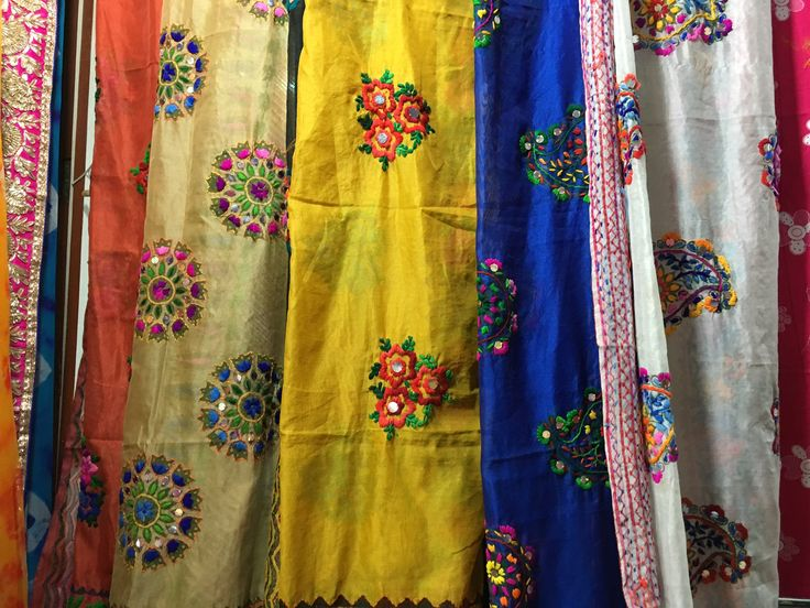 Beautiful and embellished fabric at Crawford Markets in #Mumbai
