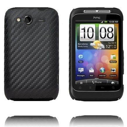 Carbonite (Sort) HTC Wildfire S Deksel