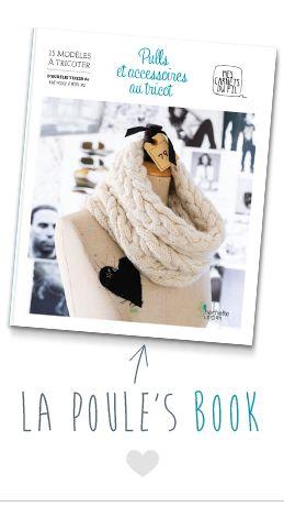 Le livre de tricot d'Aurélie de la Poule à petits pas. A avoir dans sa bibliothèque créative.