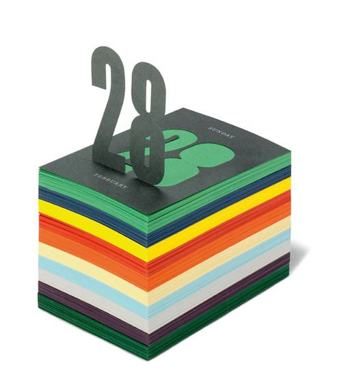 A post-it style calendar for Italian paper company Fedrigoni