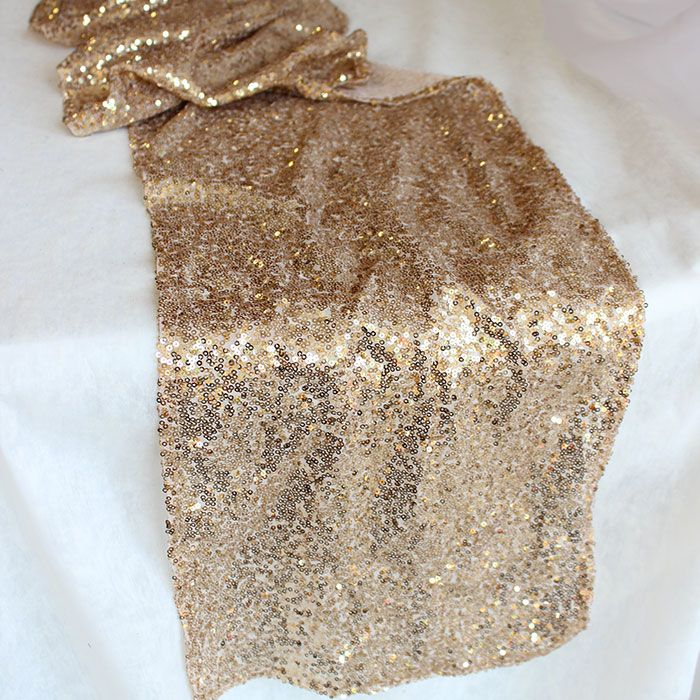 For my Bridal Show Display Table - Champagne Gold Table Runner | Gold Wedding Decorations | Afloral