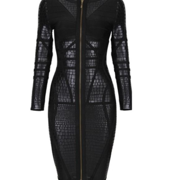 Reptile bodycon bandage dress Nice Brand new never worn bodycon bandage dress. Uk size 10-12 XL price is FIRM AS SEEN ON CELEBRITY TOYA WRIGHT Dresses