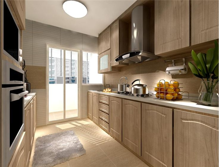 This 5 room hdb flat at punggol is designed with the for Kitchen ideas hdb
