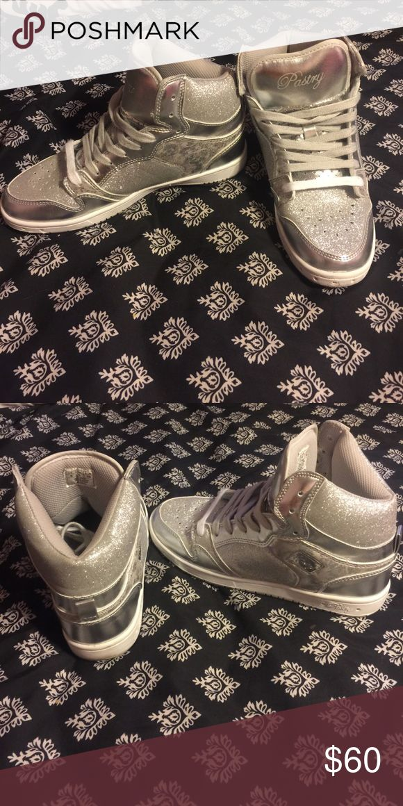Silver sparkle pastry shoes Sparkly pastry shoes size us 8. Worn a couple times. Shoes Sneakers
