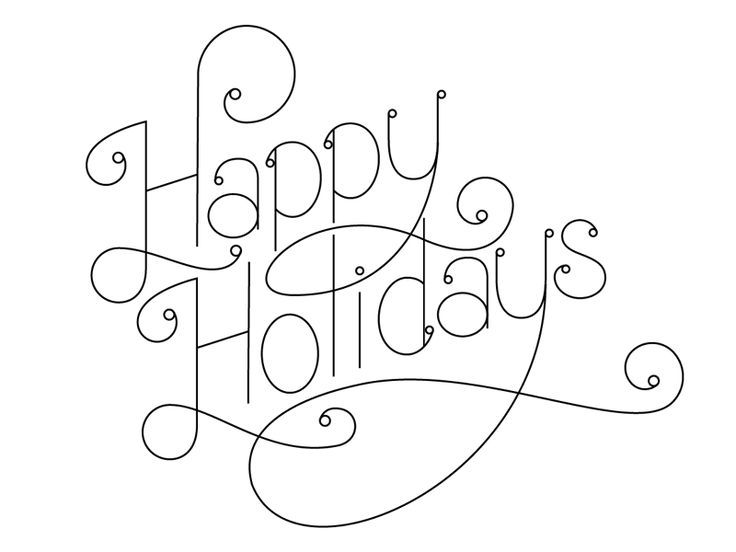 Holiday Lettering #lettering #typography