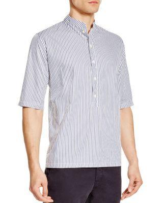 Pierre Henri Mattout Tunique Stripe Regular Fit Elbow Sleeve Shirt   Bloomingdale's
