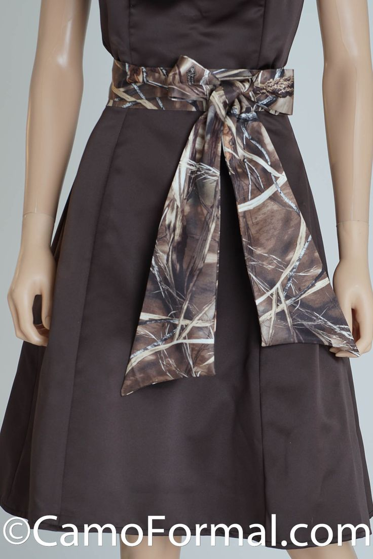 Max 4 double tied at waist camo formalformal