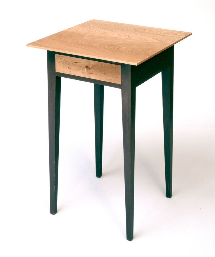 Perfect Nightstand (Shaker Style) W/patterned Cherry Table Top And Drawer Front,  Finished With Shellac.
