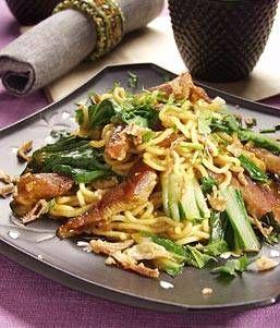 Rendang woknoedels met paksoi