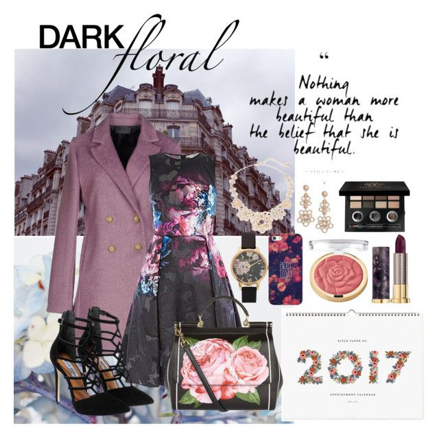 """Dark floral"" by formikastumblr ❤ liked on Polyvore featuring Sarah Jackson, Rifle Paper Co, Steve Madden, Olivia Burton, Casetify, Kate Spade, Bobbi Brown Cosmetics, Urban Decay, Milani and Dolce&Gabbana"