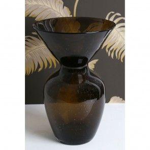 Vase, Black Shimmer, Glass