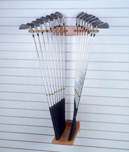 FA Edmunds Wall Mount Iron Golf Club Set Dual Display Storage Cabinet Rack Holds 9 Clubs